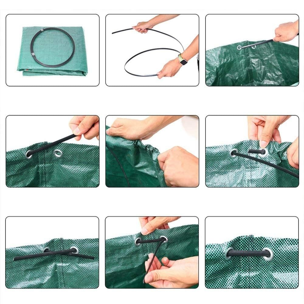 freestanding garden waste reusable bag