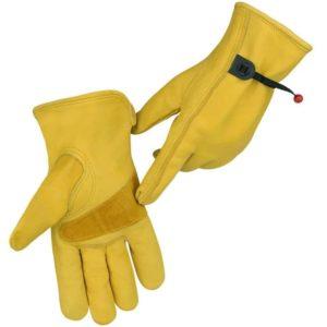 leather gardening gloves