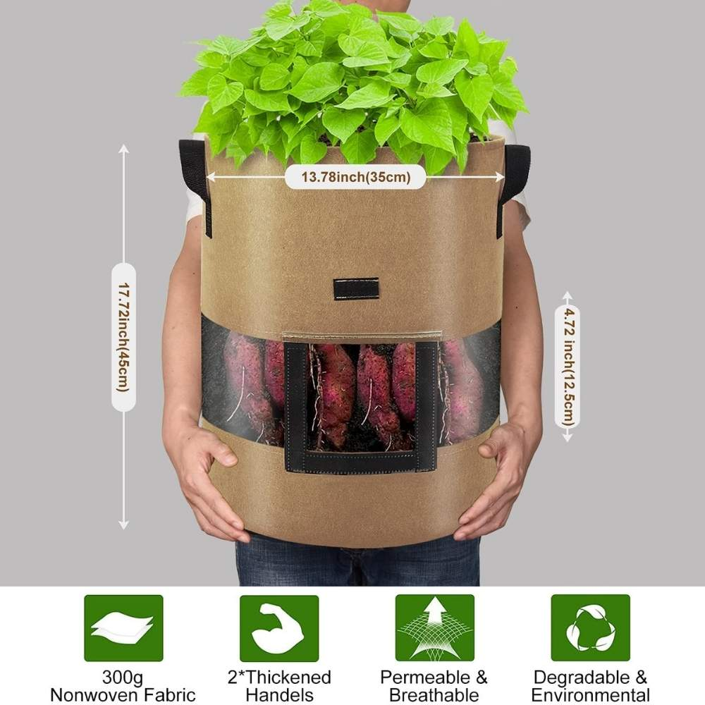 buy fabric potato growing bag online